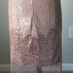 White House Black Market Dresses - Strappy sequin sheath dress